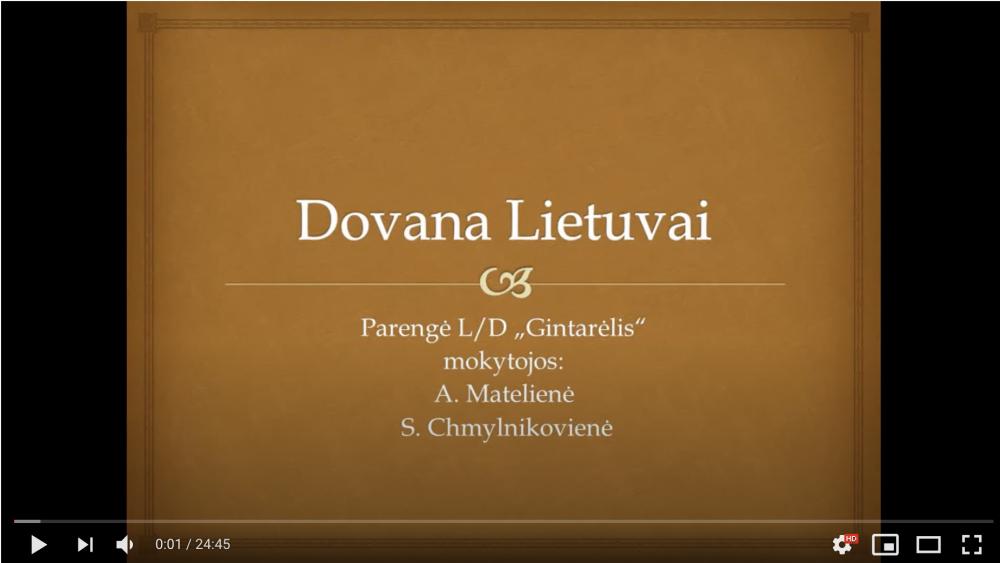 Dovana Lietuvai